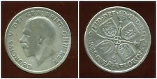 ROYAUME UNI  one  florin  1928  argent