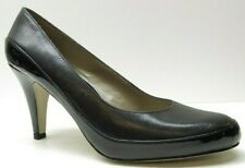 Liz Claiborne Black Leather Dress Heels Pumps 7M 7 NEW