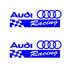 Audi Racing Sticker BLUE 2X Decal R8 TT RS4 RS6 RS7 A4 A6 A8 v8 v10 RS Stickers