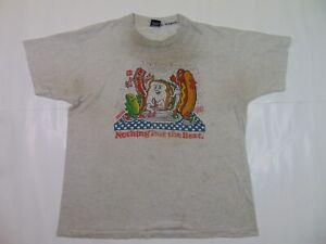 VTG 90s Men XL Single Stitch Oscar Mayer Hot Dog Shirt Weiner Dog Funny Novelty