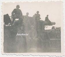 Foto Frankreich schweres Bunker ?-Eisenbahn ?-Geschütz 2.WK (t126)