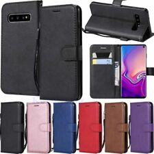For Samsung Galaxy S10 S10e S9 S8 A6 A7 A8 Wallet Card Holder Leather Case Cover