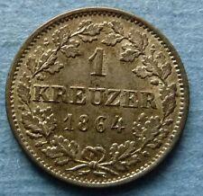 1 Kreuzer 1864 Hessen Darmstadt Ludwig III. AKS 130 stgl