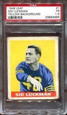 1948 Leaf #1 Sid Luckman RC PSA 1.5 Chicago Bears HOF .