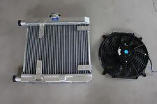 Alloy Radiator For Lancia Fulvia 1.3 1.3S V4+12'' 12V fan & mounting kits