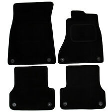 Audi A6 C7 2011 onwards Tailored Carpet Car Mats Black 4pc Floor Mat Set