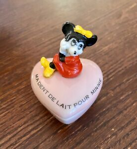 """Disney Minnie Mouse Baby Tooth Keepsake Box French """"my baby tooth for minnie"""""""