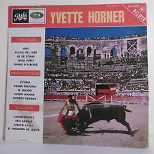 "33T Yvette HORNER Disque LP 12"" TANGOS VALSES PASO DOBLES Toro PATHE 31.030"