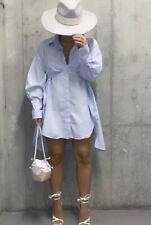 Zara Oversized Poplin Shirt 100% Cotton + Crop Top & Beach Cover Dress Size XL