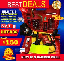 Hilti Te 5 Drill Fast Shipping Lk Nice Condotion Free A Lot Extra