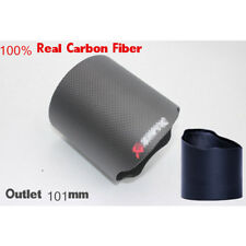 Car 101mm 100% Real Carbon Fiber Exhaust pipe Cover Exhaust Muffler Pipe Tip