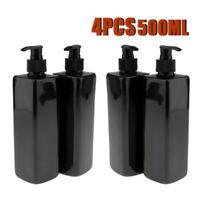 4PCS PACK 500ML EMPTY PUMP DISPENSER BOTTLES LOTION/SHAMPOO/FOAMING LIQUID SOAP
