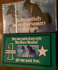Vintage Mini Pack Marlboro Menthol Cigarettes Empty Package Sign Display Only