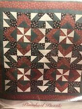New listing Pinwheel Puzzle Wallhanging/Crib Quilt, Sew, Fabric Kit - 30�x 30� - Vintage