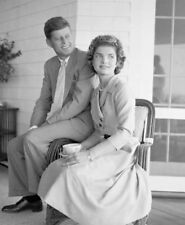 John F. Kennedy & Jackie Kennedy UNSIGNED photo - L4031 - In 1953 - NEW IMAGE