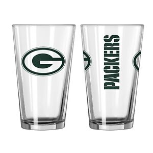 GREEN BAY PACKERS 16 OZ GAMEDAY TEAM LOGO PINT GLASS FROM BOELTER