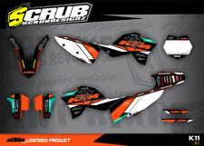 KTM graphics SX SXf 125 144 250 450 2007 2008 2009 2010 '07 '08 '09 '10 Scrub
