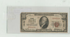nat bank note chicago il ty-1  $ 10 very fine
