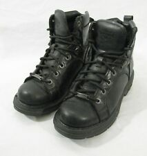 Harley Davidson Biker Boots Black sz 7.5 US Motorcycle Leather upper Lace 84078