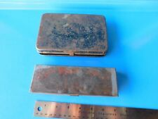 USED & RUSTY 1/4 IN. DRIVE METAL STORAGE BOX'S LOT OF 2, SEE PIC'S& DESCRIPTION