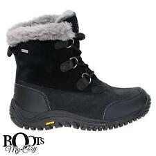 UGG OSTRANDER BLACK WOMEN'S WATERPROOF LEATHER SNOW BOOTS SIZE US 9/UK 7.5  NEW
