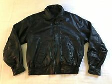 Men's William Barry Black Imported Lamb Skin Leather Bomber Biker Jacket (M) NC3