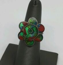 Ring Size Flexible Vintage Mexico Sterling Silver