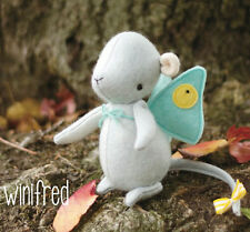 WINIFRED MOUSE  Sewing Craft A5 Creative Card PATTERN - Soft Toy Butterfly Wings