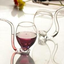 300ml Vampire Red Wine Drink Sipper Cup Mug w/Glass Drinking Straw Pipe Port