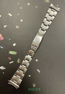 """Rolex Date Air King Mens Oyster Bracelet 19mm SS Band """"357"""" Ends Ref: 1501"""