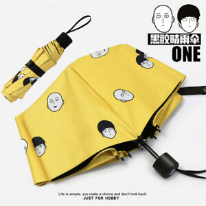Anime One-Punch Man Saitama Cosplay Folding Rain/Sun Umbrella Harajuku Gift