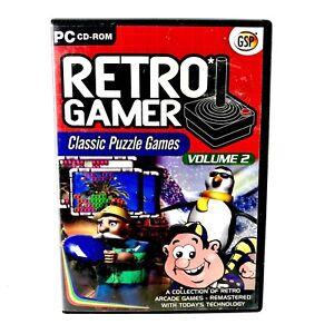 Retro Gamer Classic Puzzle Games Volume 2 Mint Disc Arcade Windows 98 ME XP 2000