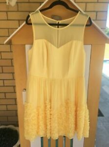 Events - Lemon/Yellow Cocktail / Race Wear Dress - Size 16 - BNWOT