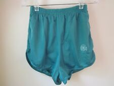 Vintage Women On The Run Women's Aqua Green Athletic Shorts Made In The U.S.A