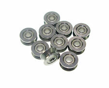 (10) 624VV 4mm V Groove Sealed Guide Pulley Rail Ball Bearing  4x13x6mm 4*13*6