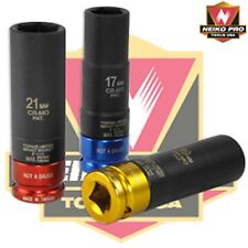 3 pc Torque limited impact sockets SAE 11/13 ,3/4,13/16