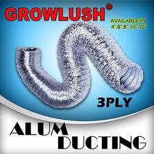 8 inch hydroponic grow Light Flexible Aluminium Ducting Fan Ventilation tent Kit
