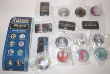 2002 Yujin Japan Star Wars Button Badge Pin Set Part 2 Unused (15x Pieces)