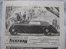 1948 Tickford Alvis D.H. Coupe Original advert