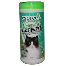Espree Animal Products Silky Cat Aloe Wipes - 50 Count - Cleans and Conditions