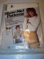 WOMENS UNCUT MCCALLS Sewing Pattern 5754 SHOW ME KNIT FABRIC TOP SIZE 12-16