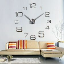 Fashion Large Wall Clock Modern Design Acrylic Mirror Clocks Europe Diy 3d Stick