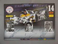 2006 LE MANS foto cartolina firmata da Jan infatti Alex Yoong & Stefan Johansson