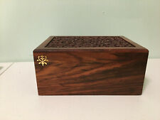 Decorative Wood Box with Secret Hide-Away Drawer From India