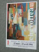 Jean CHEVOLLEAU 1994  Exposition Hotel du Département