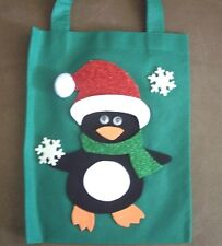 HAND CRAFTED CHRISTMAS PENGUIN GIFT BAG