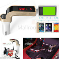 4in1 Bluetooth FM Transmitter G7 AUX Modulator Auto Kit MP3 Player SD USB LCD