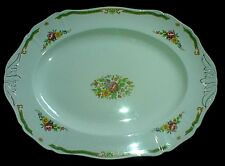 Alfred Meakin BEAULY Pink, Blue, Yellow Flower Pattern Oval Plate 16 inch