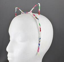 White floral cat ears headband kitten hair band cosplay cats ear flower