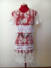 Marnie Skillings | French floral lace shift mini-dress sz 10